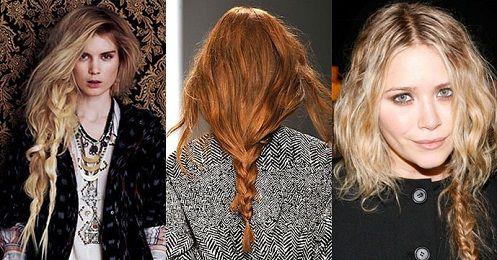 Коса в стиле гранж