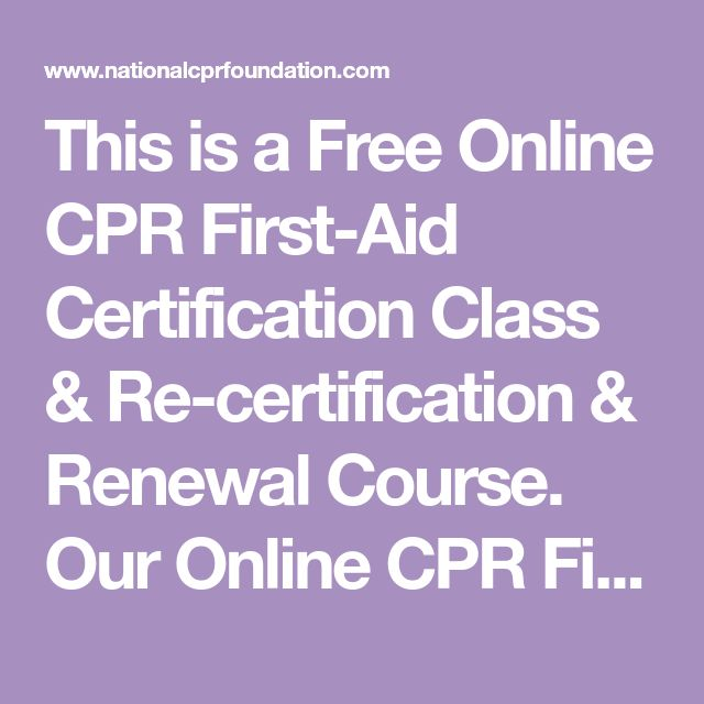 this is a free online cpr first-aid certification class & re ...