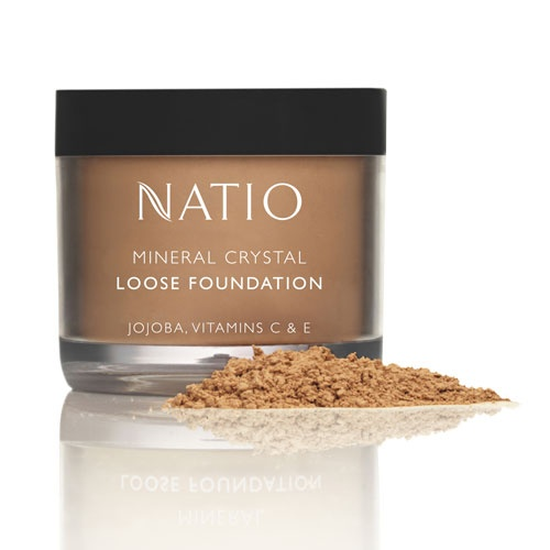 Natio mineral foundation. So light on my skin, I love it.