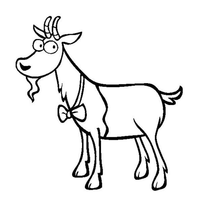 Free Printable Goat Coloring Pages Animal Coloring Pages Coloring Pages For Kids Goats