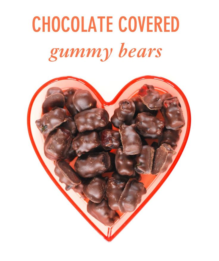 Chocolate Covered Gummy Bears for Galentine's Day // Twin Stripe