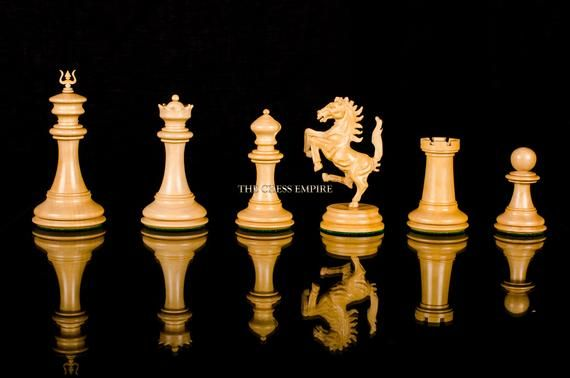 1841 Calvert Series Reproduction Chess Pieces Antiqued Boxwood Ebony 4 4 King Antique Luxury Chess Pieces The Chess Empire Chess Pieces Chess Chess Set