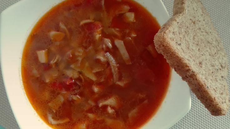 Gulášová polévka z hlívy | veganodaktyl - veganské recepty
