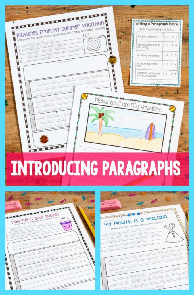 Use back to school read alouds that encourage community and positive behavior to introduce paragraphs! These lessons include scaffolded steps to teach students how to write a well constructed paragraph!