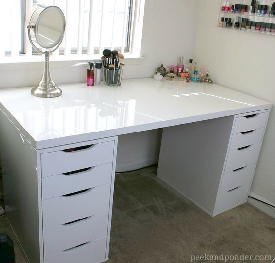 25+ best ideas about Ikea makeup vanity on Pinterest : Makeup tables, Makeup vanity desk and ...