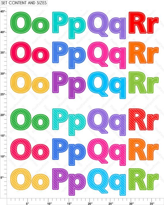 Alphabet Clipart Part 5 ABC clip art OPQR by pixelpaperprints