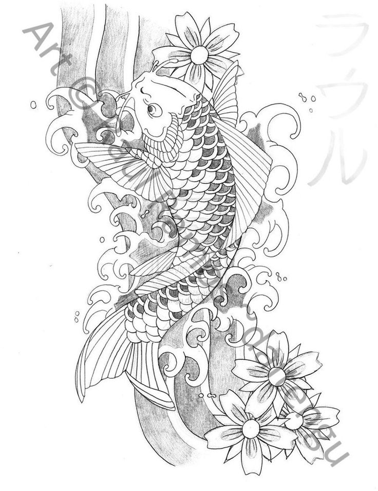 Japanese koi fish tattoos japanese koi fish tattoo for Japanese koi fish drawing