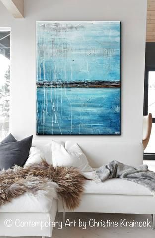374 Best Images About Art Paintings By Christine Krainock On Pinterest Blue Abstract