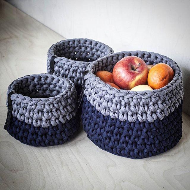 #KnitKnotKiev #crochet #crochetbasket #crochetbaskets #tshirtyarn #zpagettiyarn…
