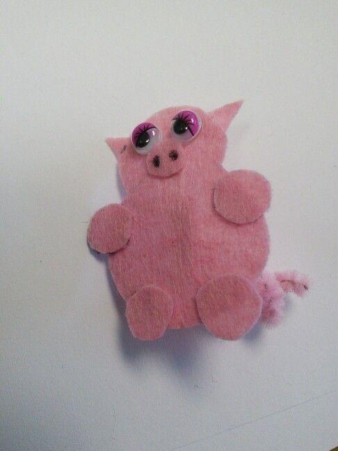 Felt made piggy