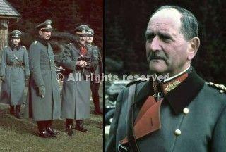 a sinistra generale von schobert e il generale von epp a destra durante l'invasione dei sudetenland generale franz von epp_wwii