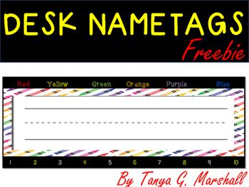 These crayon-themed desk name tags help you to get your classroom or homeschool ready for back to school!