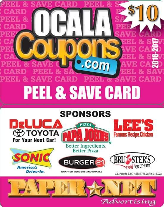 PEEL & SAVE!  Do you have one yet? Save money at your favorite resturants today!