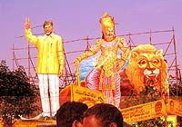 When the Telugu Desam Party supremo Chandrababu Naidu is in town, Vizag has to dress in yellow!