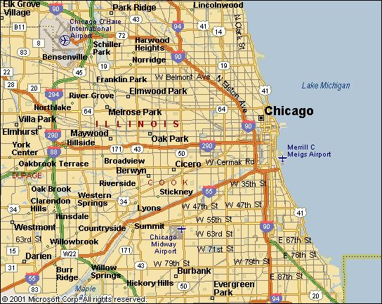 map of chicago suburbs | Geology