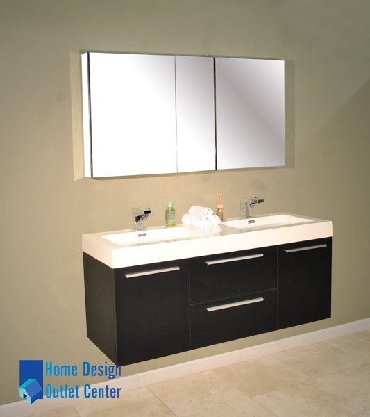 AT 8047 54 Double Modern Bathroom Vanity Set