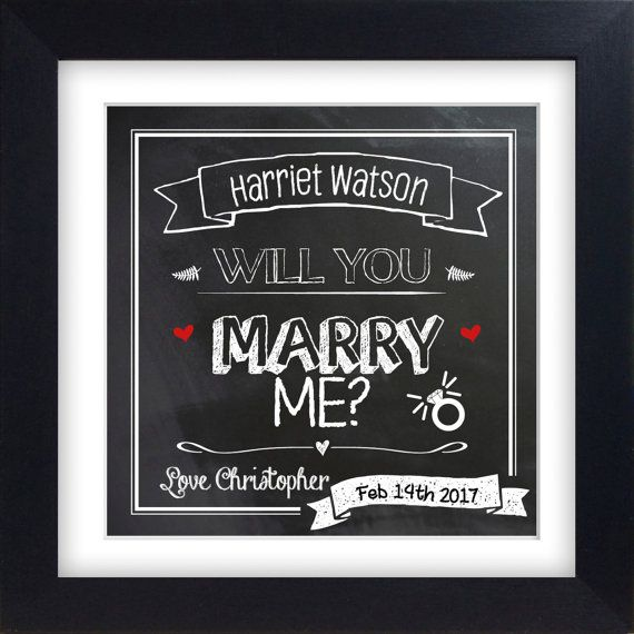 Will you MARRY ME  Personailsed Mounted by DaintyBeeDesignUK