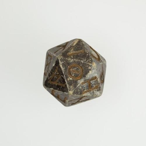 Egyptian twenty-sided die with Greek letters, 2nd century BC – 4th century AD