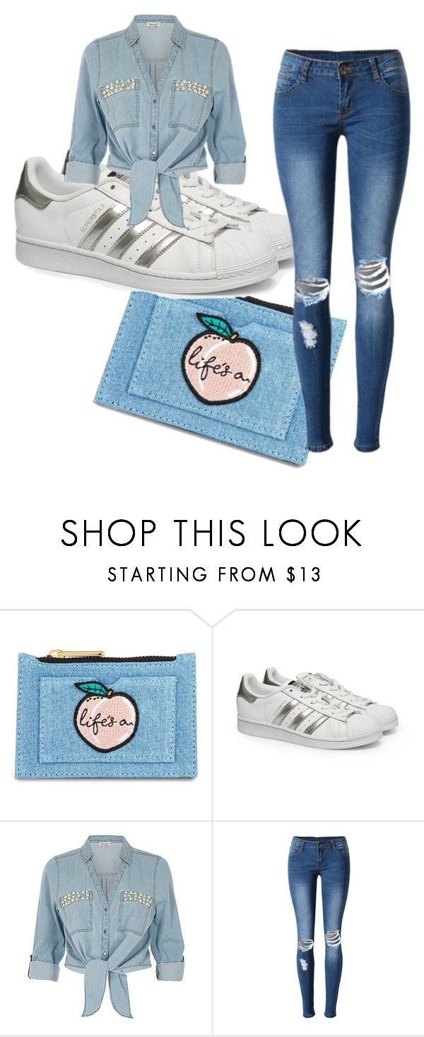 """Denim"" by litte-ballerina on Polyvore featuring Skinnydip, adidas, ZAK and WithChic"