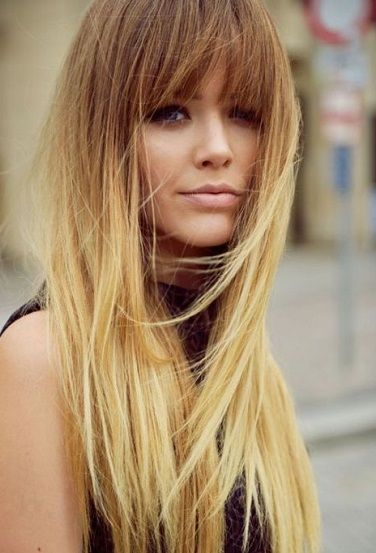 Ombre Blonde // 60's style | hair | Pinterest | Bang hair ...