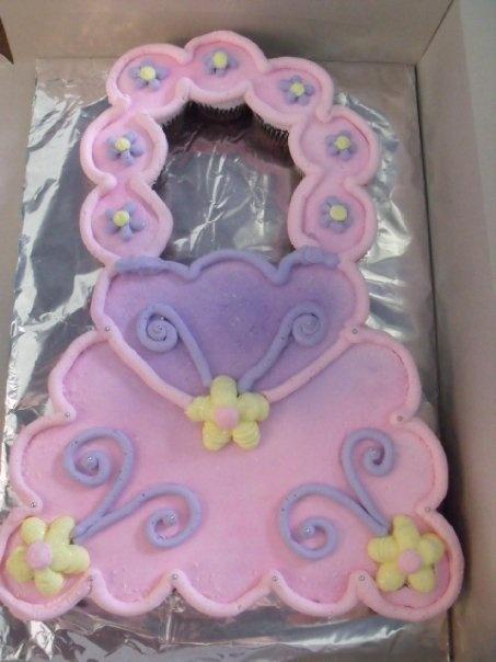 Purse Cupcake Cake