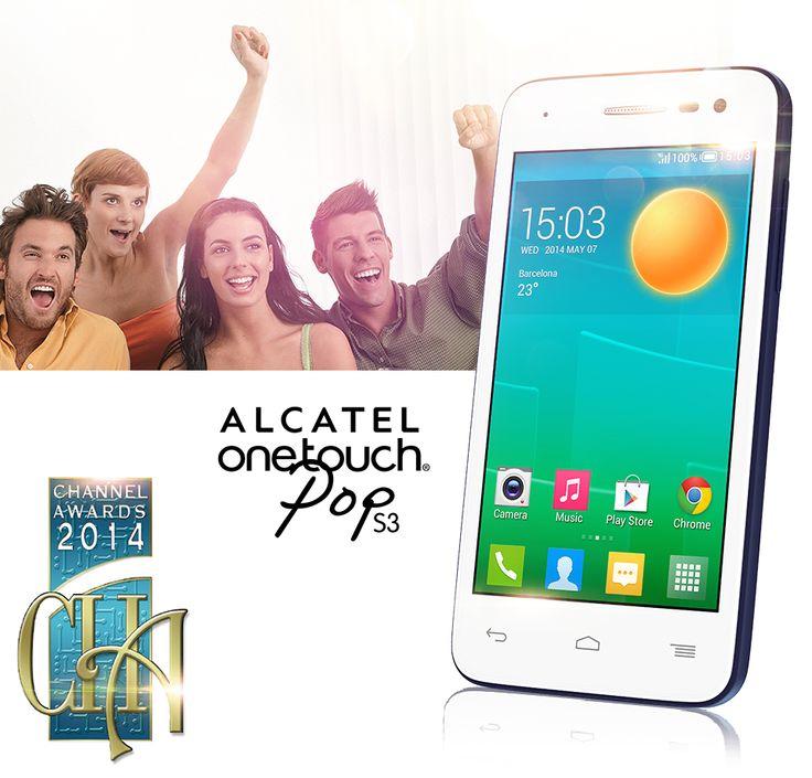 ALCATEL ONETOUCH se enorgullece en presentarles al ganador del premio a Mejor Smartphone (Entry Level) en los Channel Awards 2014. ¡ALCATEL ONETOUCH POP S3! ¡¡Gracias a todos ustedes por sus votos!!
