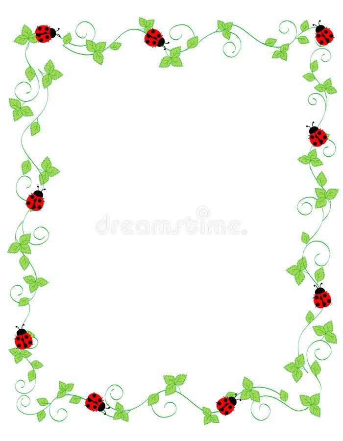 Lady Bug Frame Vector Illustration In 2021 Ladybug Frame Ladybug Crochet Headband Free