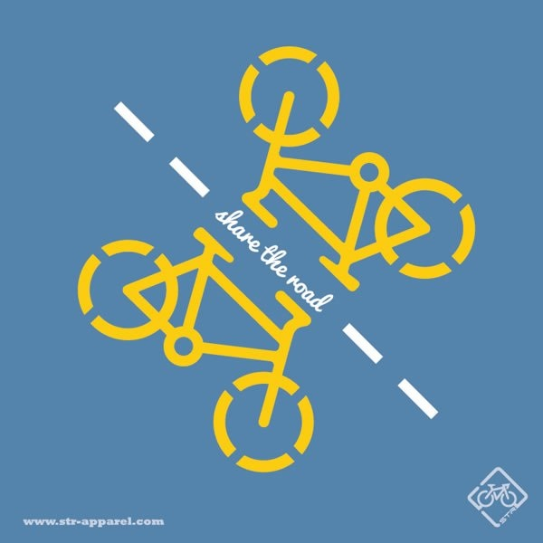 STR Apparel Share the Road T-Shirt. cycling, bikes, bicycle