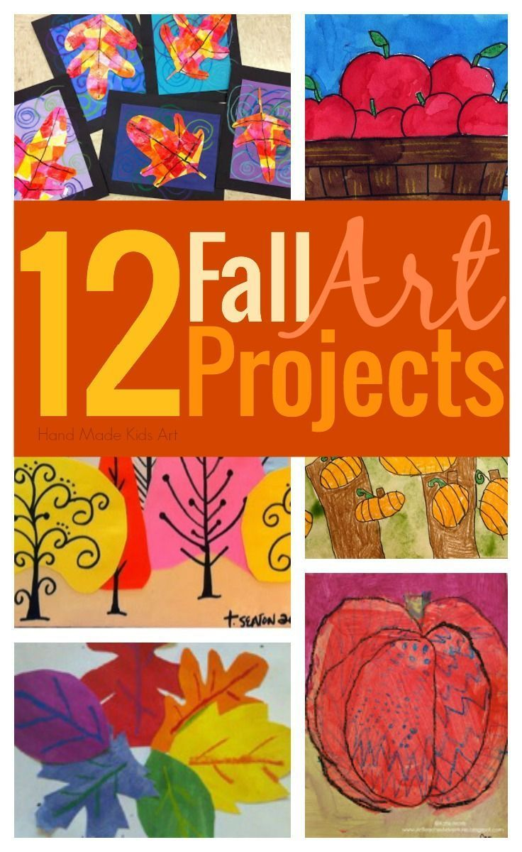 12 Amazing Fall Art Projects for Kids curated by Hand Made Kids Art. Easy to do at home or school!