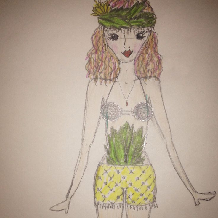 Bestival outfit doodle