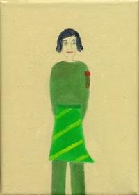 Frau in grün