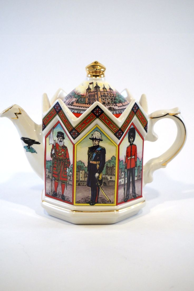 The Tower of London Heritage Teapot by James Sadler. It's fashioned after one of the most recognized monuments within London, Her Majesty's Royal Palace and Fortress, or more commonly known as the Tow