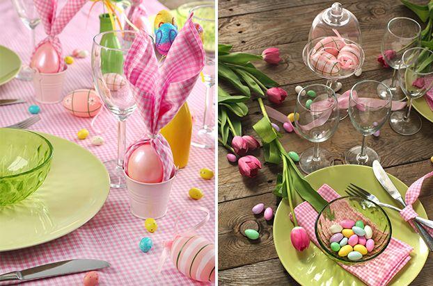 Decoração de mesa de Páscoa. Como decorar a casa com tema da Páscoa. Ideias de Páscoa.