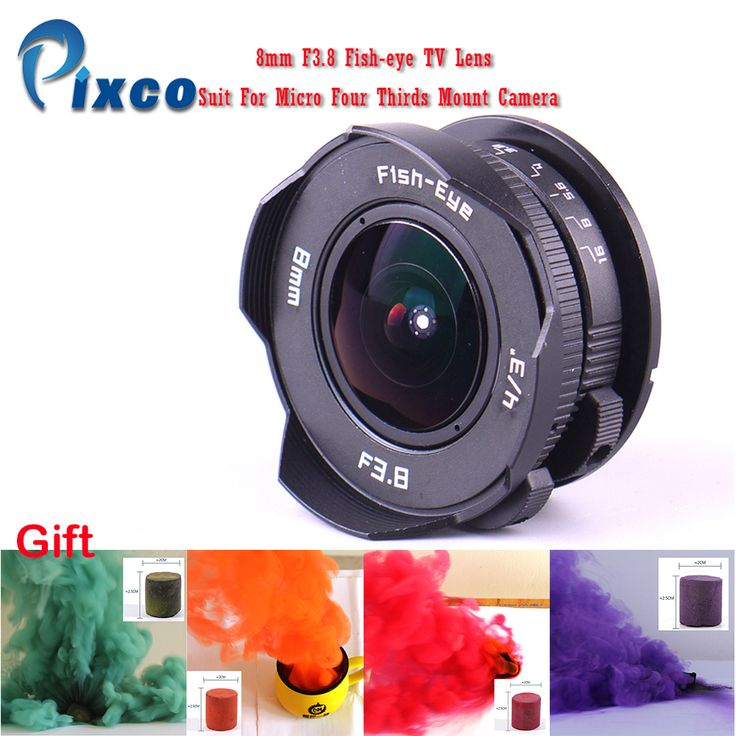 Pixco 8mm F3.8 Fish-eye C mount Wide Angle Fisheye Lens Focal length Fish eye Lens Suit For Micro Four Thirds Mount Camera +Gift Click visit to check price #camera