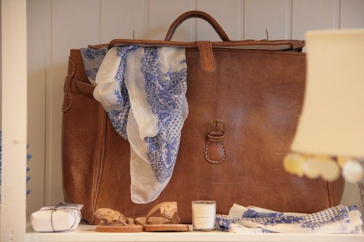 Leather bag from TineK. Holmehuset, Bergen.