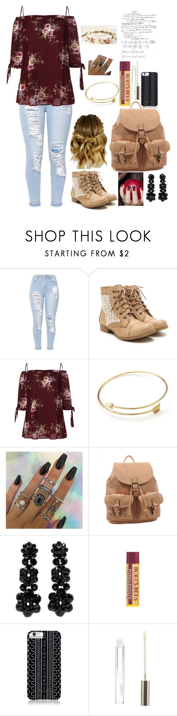 """How to rock combat boots at school"" by piano-fingers-88 ❤ liked on Polyvore featuring MKF Collection, Simone Rocha, Burt's Bees, Savannah Hayes and Boohoo"