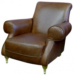 WINCHESTER Classic Roll Arm Club Chair #armchair #design #comfort #comfortablarmchair #classicrollarmchair #leatherarmchair #leather #chair