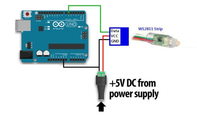 RGB елочная гирлянда на Arduino