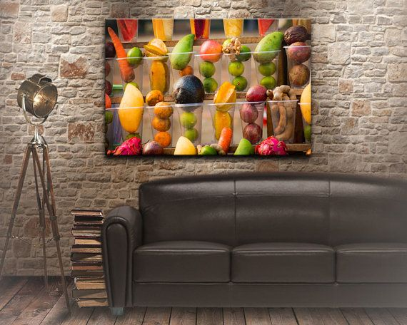 A fruit salad food photography kitchen decor by NadbradDesigns