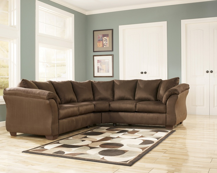 Darcy Cafe Microfiber Brown Sectional by Ashley Furniture Reviews