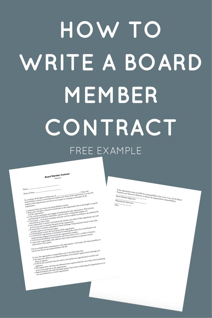 Nonprofit Board Member Contracts can clarify the roles and responsibilities of board members. Click through to see an example!