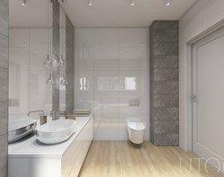 MIESZKANIE DWUPOZIOMOWE - Średnia łazienka, styl nowoczesny - zdjęcie od UTOO- pracownia architektury wnętrz i krajobrazu
