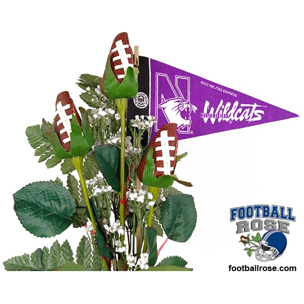 Score a touch down in the heart of a Northwestern Wildcats fan with Football Roses and officially licensed NCAA Big Ten accessories.  $64.95