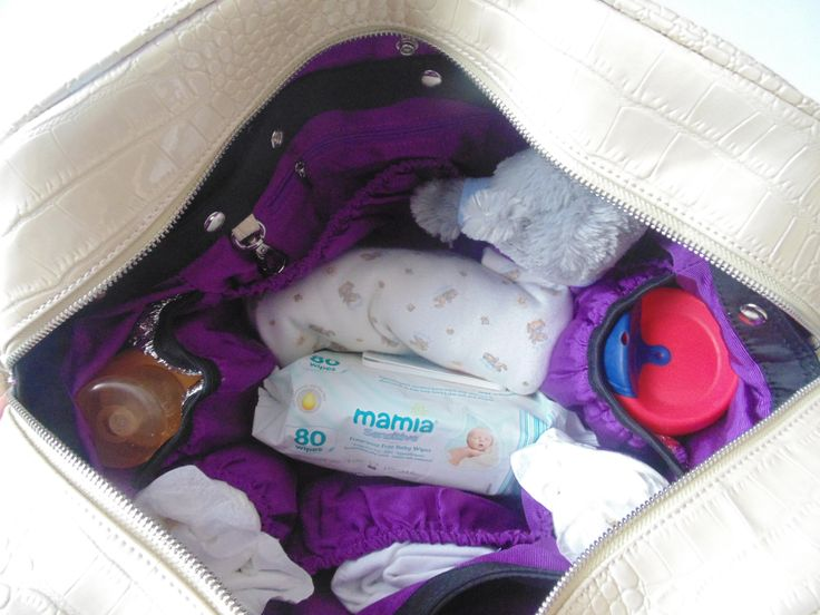 Inside view of our Westminster changing/ #diaper #bag.