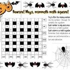 6x6 Advanced Mega Mamoth Halloween Math Square  I have used this as a warm up with grades 6 through 8.  Answers included  This item is part of a 3-...
