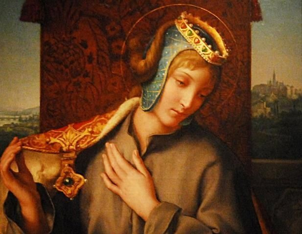 Agnes of Bohemia (sv.Anežka Česká, 1211) - princess who opted for a life of charity, mortification of the flesh and piety over a life of luxury and comfort. Although she was venerated soon after her death, Agnes was not beatified or canonized for over 700 years. #Czechia