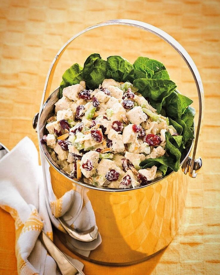 This was so easy to make AND YUM!! Cranberry-#Almond Chicken Salad: recipe link in bio!