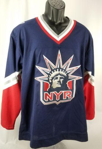df68bde1ae2 Men's CCM New York Rangers Lady Liberty Hockey Jersey!! Size Large L (eBay  Link)