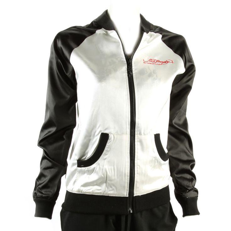 Ed Hardy Women's Windbreaker Jacket -White