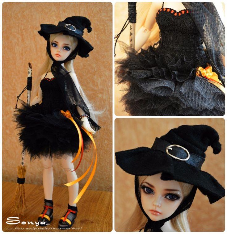 """Костюм ведьмы """"Happy Halloween"""" / Одежда и обувь для кукол - своими руками и не только / Бэйбики. Куклы фото. Одежда для кукол"""